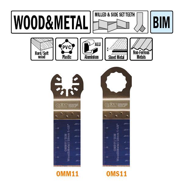 Brzeszczot 28mm do cięcia wgłębnego w drewnie OMM11