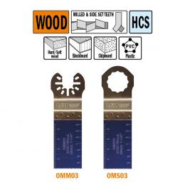 Brzeszczot 28mm do cięcia wgłębnego w drewnie OMM03