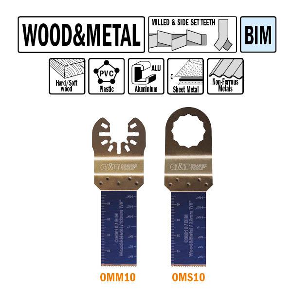 Brzeszczot 22mm do cięcia wgłębnego w drewnie OMM10