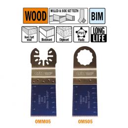 Brzeszczot 34mm z podwyższoną żywotnością do cięcia wgłębnego w drewnie OMM05