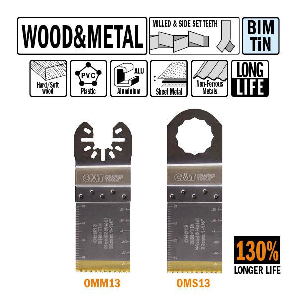 Brzeszczot 32mm z podwyższoną żywotnością do cięcia wgłębnego w drewnie i metalu OMM13