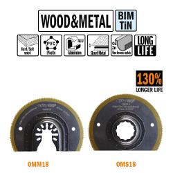 Brzeszczot promieniowy 87mm z podwyższoną żywotnością do drewna i metalu OMM18