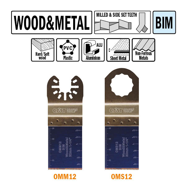 Brzeszczot precyzyjny 34mm do drewna OMM12