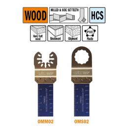 Brzeszczot 22mm do cięcia wgłębnego w drewnie OMM02