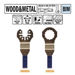 Brzeszczot 10mm do cięcia wgłębnego w drewnie i metalu OMM09