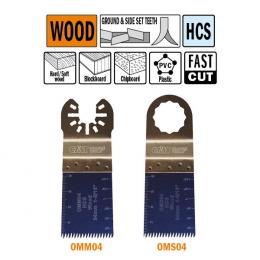 Brzeszczot precyzyjny 34mm do drewna OMM04