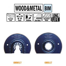 Brzeszczot promieniowy 87mm do drewna i metalu OMM17