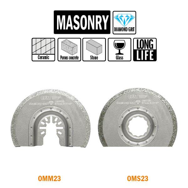 Brzeszczot promieniowy 87mm z nasypem diamentowym o podwyższonej żywotności OMM23